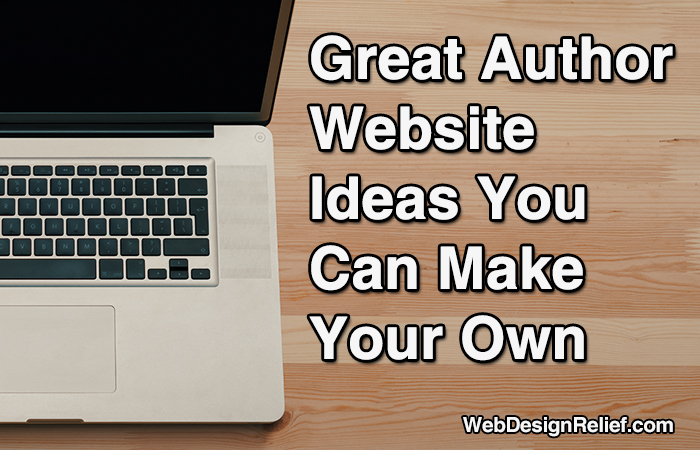great author website ideas you can make your own web