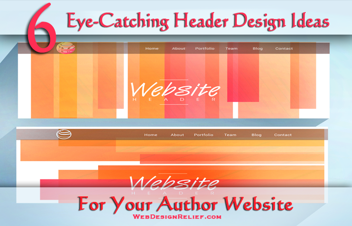 6 eye catching header design ideas for your author website