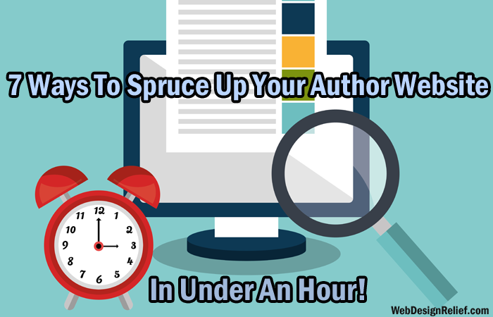 spruce up your author website