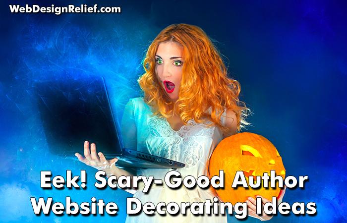 Eek! Scary-Good Author Website Decorating Ideas - Web Design ...